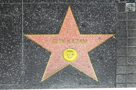 HOLLYWOOD - JUNE 26: Elia Kazans star on Hollywood Walk of Fame on June 26, 2012 in Hollywood, California. This star is located on Hollywood Blvd. and is one of 2400 celebrity stars.