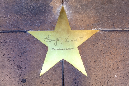 PHOENIX, USA - June 14: The name of stars in copper reflect the past glory of the Hotel San Carlos on June 14,2012 in Phoenix, USA. The stars in the sidewalk were put in in 1993 to commemorate the visits of luminaries of their day. Stock Photo - 14418452