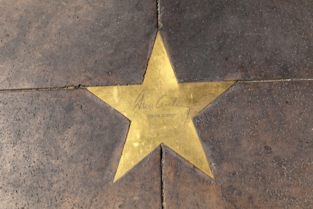 PHOENIX, USA - June 14: The name of stars in copper reflect the past glory of the Hotel San Carlos on June 14,2012 in Phoenix, USA. The stars in the sidewalk were put in in 1993 to commemorate the visits of luminaries of their day.