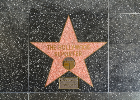 blvd: HOLLYWOOD - JUNE 26: The Hollywood reporters star on Hollywood Walk of Fame on June 24, 2012 in Hollywood, California. This star is located on Hollywood Blvd. and is one of 2400 celebrity stars.