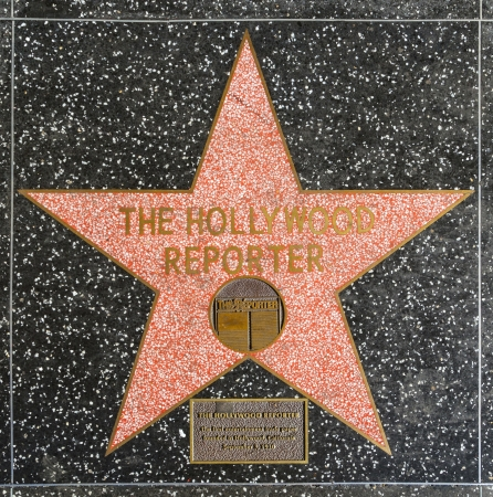 24 26: HOLLYWOOD - JUNE 26: The Hollywood reporters star on Hollywood Walk of Fame on June 24, 2012 in Hollywood, California. This star is located on Hollywood Blvd. and is one of 2400 celebrity stars.