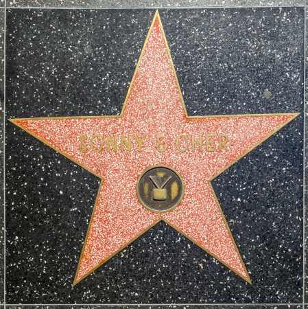 24 26: HOLLYWOOD - JUNE 26:  Sonny and Chers star on Hollywood Walk of Fame on June 24, 2012 in Hollywood, California. This star is located on Hollywood Blvd. and is one of 2400 celebrity stars.