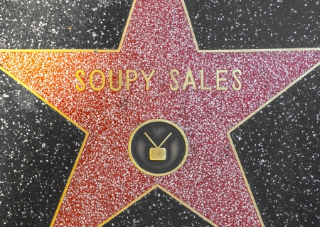 24 26: HOLLYWOOD - JUNE 26: Soupy Sales star on Hollywood Walk of Fame on June 24, 2012 in Hollywood, California. This star is located on Hollywood Blvd. and is one of 2400 celebrity stars. Editorial