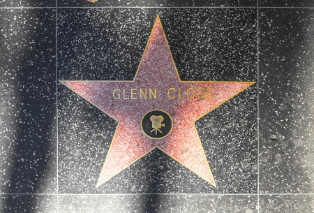 24 26: HOLLYWOOD - JUNE 26:  Glenn Closes star on Hollywood Walk of Fame on June 24, 2012 in Hollywood, California. This star is located on Hollywood Blvd. and is one of 2400 celebrity stars.