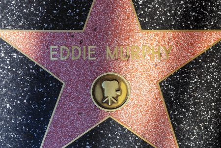 blvd: HOLLYWOOD - JUNE 24: Eddie Murphy star on Hollywood Walk of Fame on June 24, 2012 in Hollywood, California. This star is located on Hollywood Blvd. and is one of 2400 celebrity stars. Editorial