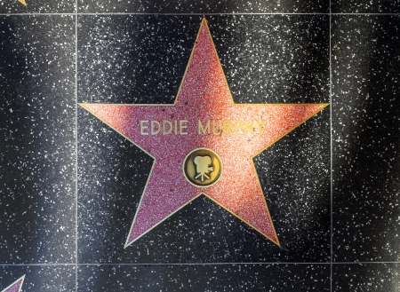 24 26: HOLLYWOOD - JUNE 26: Eddie Murphy star on Hollywood Walk of Fame on June 24, 2012 in Hollywood, California. This star is located on Hollywood Blvd. and is one of 2400 celebrity stars.