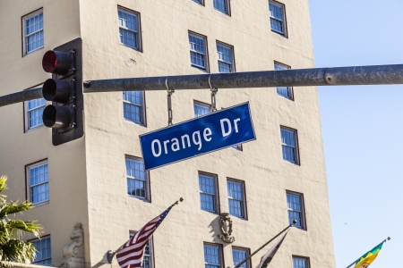 Orange Blvd street sign in Hollywood