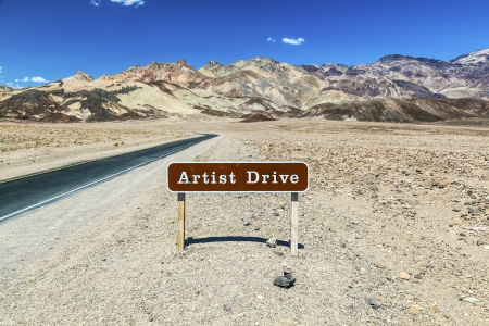 sign artist drive in death valley photo