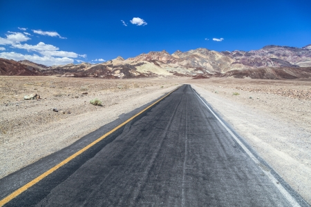 Artists drive road in Death Valley photo