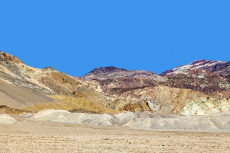 beautiful rock formations artists drive in the Death Valley photo