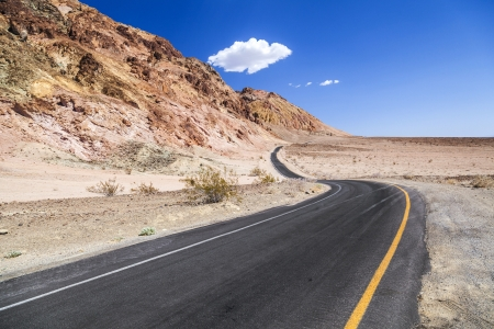 winding road Artists drive in the Death Valley photo