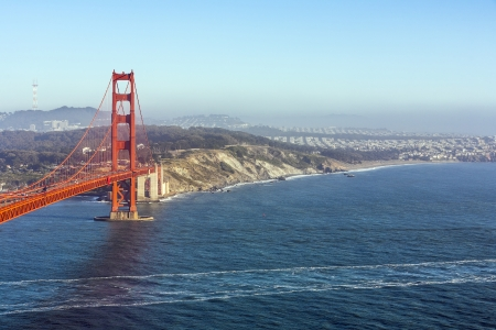 famous San Francisco Golden Gate bridge in late afternoon light Stock Photo - 14505441