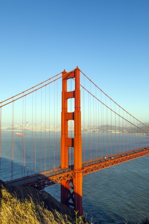 famous San Francisco Golden Gate bridge in late afternoon light photo