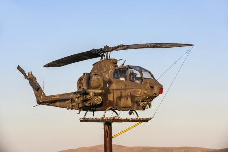 SUSANVILLE, USA JUNE 17: AH-1Cobra Helicopter  at Veterans Memorial on June 17,2012 in Susanville, USA. The memorial is dedicated especially to veterans of vietnam war.