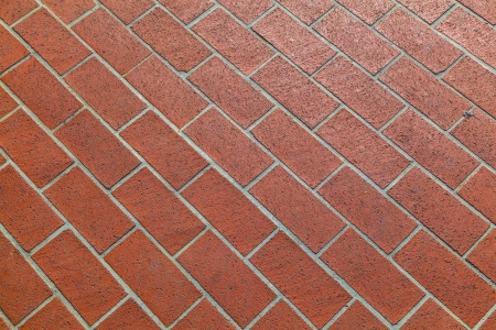 pattern of harmonic red tiles at the floor photo