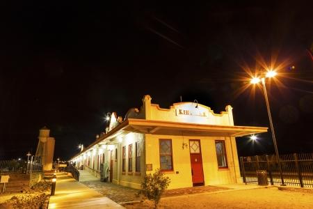train Station by night in Kingman, Arizona