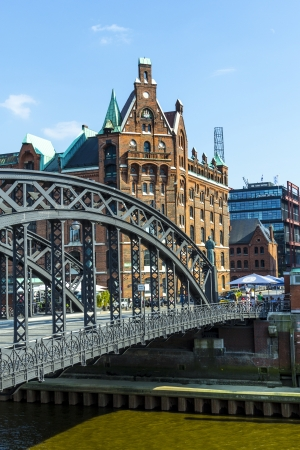 Brooks Bridge at the speicherstadt in hamburg