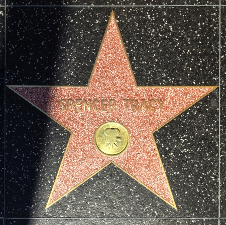 spencer: HOLLYWOOD - JUNE 24: Spencer Tracys star on Hollywood Walk of Fame on June 24, 2012 in Hollywood, California. This star is located on Hollywood Blvd. and is one of 2400 celebrity stars.