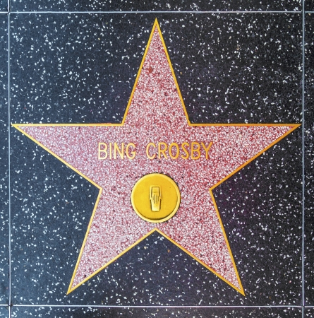 bing: HOLLYWOOD - JUNE 24: Bing Crosbys star on Hollywood Walk of Fame on June 24, 2012 in Hollywood, California. This star is located on Hollywood Blvd. and is one of 2400 celebrity stars.