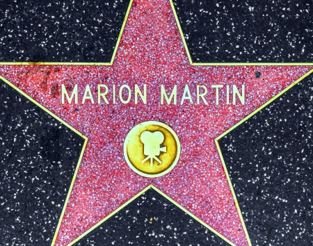 blvd: HOLLYWOOD - JUNE 26: Marion Martins star on Hollywood Walk of Fame on June 26, 2012 in Hollywood, California. This star is located on Hollywood Blvd. and is one of 2400 celebrity stars.