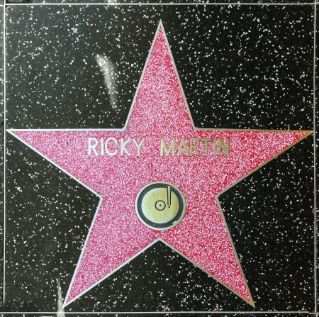 blvd: HOLLYWOOD - JUNE 26: Ricky Martins star on Hollywood Walk of Fame on June 26, 2012 in Hollywood, California. This star is located on Hollywood Blvd. and is one of 2400 celebrity stars. Editorial