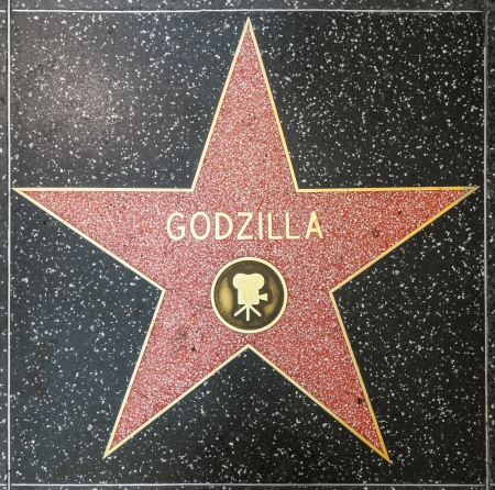 blvd: HOLLYWOOD - JUNE 26: Godzillas star on Hollywood Walk of Fame on June 26, 2012 in Hollywood, California. This star is located on Hollywood Blvd. and is one of 2400 celebrity stars.