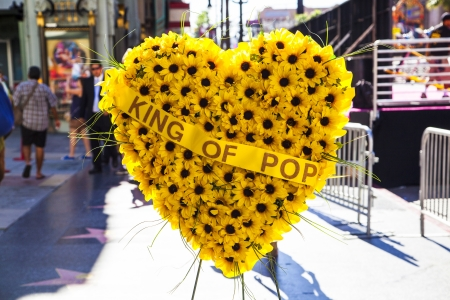 LOS ANGELES - JUNE 26: Flower Heart at Michael Jacksons star on the Hollywood Walk of Fame on June 26, 2012 in Los Angeles.