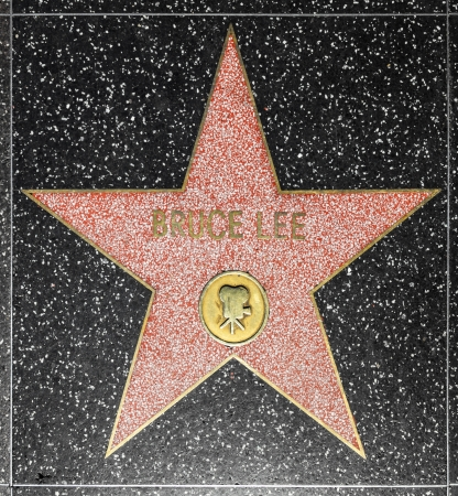 blvd: HOLLYWOOD - JUNE 26: Bruce Lees star on Hollywood Walk of Fame on June 26, 2012 in Hollywood, California. This star is located on Hollywood Blvd. and is one of 2400 celebrity stars.