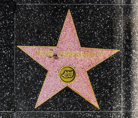blvd: HOLLYWOOD - JUNE 26: David Copperfields star on Hollywood Walk of Fame on June 26, 2012 in Hollywood, California. This star is located on Hollywood Blvd. and is one of 2400 celebrity stars.