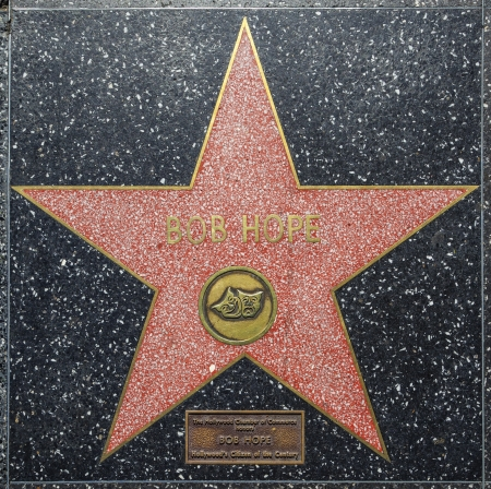 blvd: HOLLYWOOD - JUNE 26: Bob Hopes star on Hollywood Walk of Fame on June 26, 2012 in Hollywood, California. This star is located on Hollywood Blvd. and is one of 2400 celebrity stars. Editorial