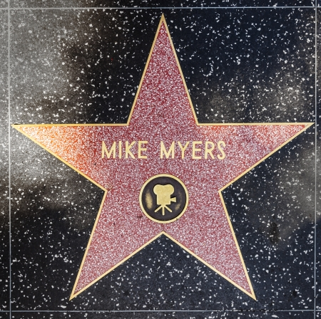 blvd: HOLLYWOOD - JUNE 26: Mike Myers star on Hollywood Walk of Fame on June 26, 2012 in Hollywood, California. This star is located on Hollywood Blvd. and is one of 2400 celebrity stars.