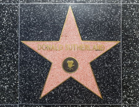 donald: HOLLYWOOD - JUNE 26: Donald Sutherlands star on Hollywood Walk of Fame on June 26, 2012 in Hollywood, California. This star is located on Hollywood Blvd. and is one of 2400 celebrity stars.