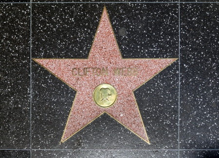 blvd: HOLLYWOOD - JUNE 26: Clifton Webbs star on Hollywood Walk of Fame on June 26, 2012 in Hollywood, California. This star is located on Hollywood Blvd. and is one of 2400 celebrity stars.