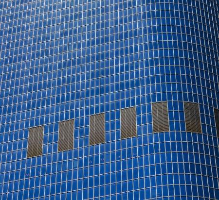 facade of skyscraper downtown Los Angeles