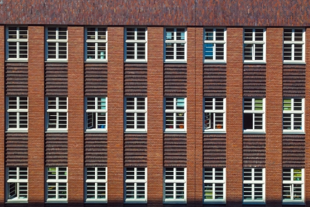 facade of office building with harmonic windows in a row Stock Photo - 14896196