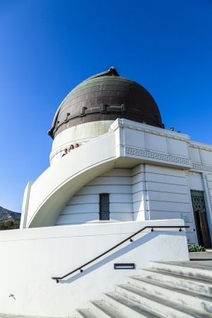 griffith: people visit the observatory in Griffith park Editorial