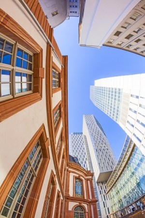 engel: FRANKFURT - APRIL 23  perspective of PalaisQuartier on April 23, 2011 in Frankfurt  In 2009 the architects  Engel und Zimmermann combined the old palace with modern offices,shops and hotels as PalaisQuartier