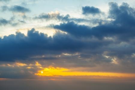 sunrise over white cloudscape in the sky Stock Photo - 15118727