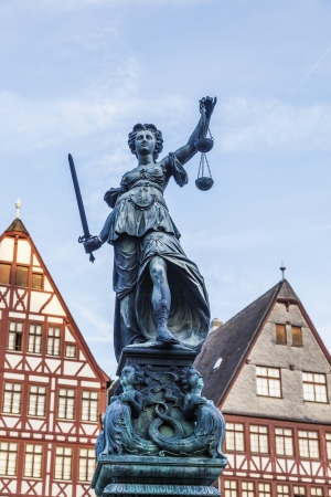 lady justice in Frankfurt Stock Photo - 15118750