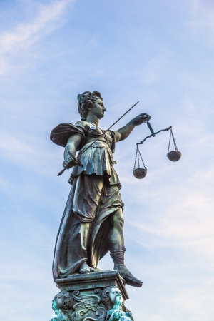 lady justice in Frankfurt Stock Photo