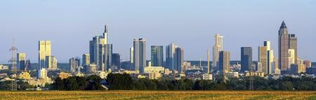 skyline of Frankfurt with fields in foreground Stock Photo - 15118763