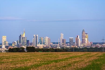 skyline of Frankfurt with fields in foreground Stock Photo - 15118791