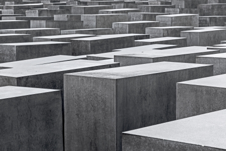 The Denkmal fur die Juden ermordeten Europe (Memorial to the Murdered Jews of Europe), also known as Holocaust-Memorial Mahnmal at Berlin, Germany