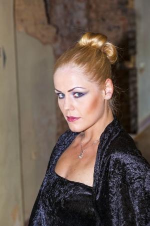 portrait of elegant lady in a black dress Stock Photo - 15257256