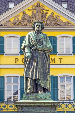 ludwig: The Beethoven Monument on the Munsterplatz in Bonn, Germany Editorial