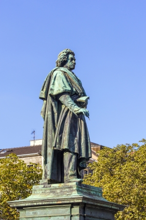 beethoven: The Beethoven Monument on the Munsterplatz in Bonn, Germany Stock Photo