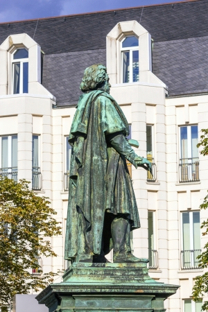 beethoven: The Beethoven Monument on the Munsterplatz in Bonn, Germany Editorial