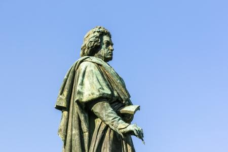 rhine westphalia: The Beethoven Monument on the Munsterplatz in Bonn, Germany Stock Photo