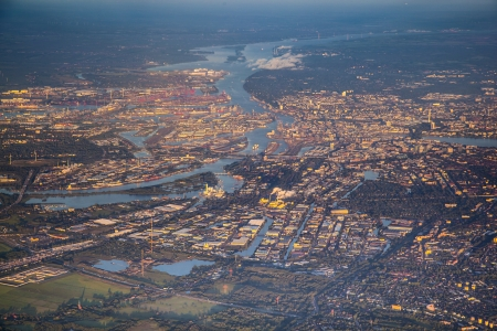 aerial of Hamburg photo