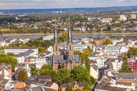 Luftaufnahmen von Bonn, die ehemalige Hauptstadt der Bundesrepublik Deutschland Lizenzfreie Bilder